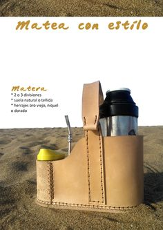 Mateá con estilo ;)  Matera / cuero / Uruguay Leather Craft, Leather Bag, Yerba Mate, Kydex, Leather Working, Wine Rack, Bucket Bag, My Style, Bags