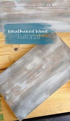 Cool Woodworking Tips - Super Easy Weathered Wood Look - Easy Woodworking Ideas, Woodworking Tips and Tricks, Woodworking Tips For Beginners, Basic Guide For Woodworking - Refinishing Wood, Sanding and Staining, Cleaning Wood and Upcycling Pallets - Tips for Wooden Craft Projects http://diyjoy.com/diy-woodworking-ideas