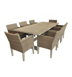 RECYCLED TEAK 9PCE DINING SETTING