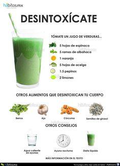 Hábitos Health Coaching | JUGO DE VERDURAS PARA DESINTOXICARTE