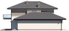 Projekt domu Karat 5 156,82 m2 - koszt budowy - EXTRADOM Modern Family House, Bungalow, Gazebo, New Homes, Outdoor Structures, Outdoor Decor, Home Decor, Model, Home Plans