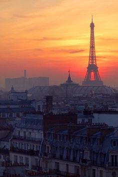 Image result for paris unedited  sunset