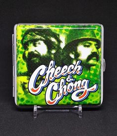 Cheech & Chong Style #3 Silver Framed PU Leather King Size Cigarette Case