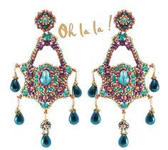 Swarovski Gold Fill Statement Swarovski Crystal by OhlalaJewelry, $145.00