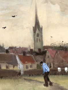Vincent van Gogh - View of The Hague with the New Church, 1882