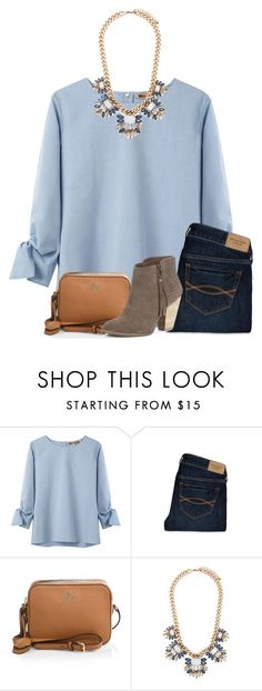 A fashion look from December 2015 featuring three quarter length sleeve tops, abercrombie fitch jeans and suede heel boots. Browse and shop related looks. Fall Winter Outfits, Autumn Winter Fashion, Spring Outfits, Casual Outfits, Cute Outfits, Look Fashion, Womens Fashion, Looks Plus Size, Preppy Style