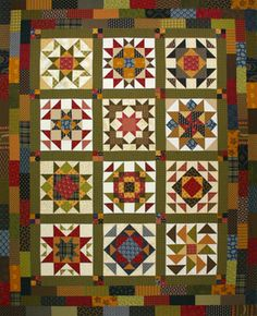 Civil War Quilts: Resources for Pieced BOM's Star Quilt Blocks, Star Quilts, Scrappy Quilts, Quilt Block Patterns, Amish Quilts, Quilting Projects, Quilting Designs, Quilt Boarders, Sampler Quilts