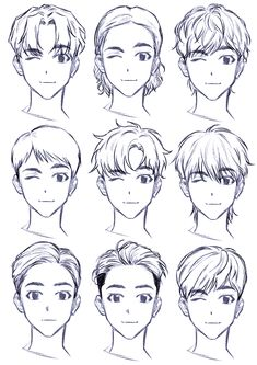 ▷ 1001 + ideas on how to draw anime - tutorials + pictures face drawing, from different angles, anime girl drawing, black and white, pencil sketch Anime Drawings Sketches, Anime Sketch, Cartoon Drawings, Drawings Of Hair, Art Reference Poses, Drawing Reference, Hair Reference, Drawing Tips, Drawing Techniques