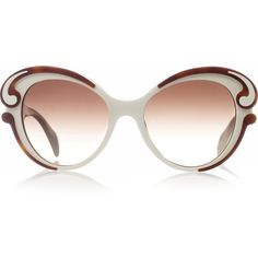 Prada Butterfly-frame acetate sunglasses ($340) ❤ liked on Polyvore