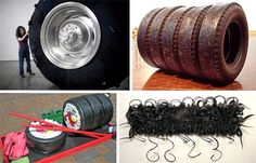 Used Tires: Recycled Tire Rubber Art and Design By Marc in Environment & Nature Tires are boring. Except for the occasional horror experienced when one bursts or hits a nail, they're simply an …
