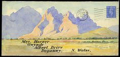 Hand Illustrated and Later Printed Envelopes: 1948 two watercolour hand painted envelopes from London to the same addressee in North Wales, each franked 1941–42 21/2d., one depicting Welsh mountains, the other a tanker at sea, fine and attractive. Photo. Price Realised £200
