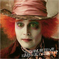 "Johnny Depp as the Mad Hatter in Tim Burton's ""Alice in Wonderland"""