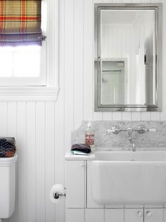 White-on-White Cottage Style: 10 Big Ideas for Small Bathrooms #hgtv >> http://www.hgtv.com/bathrooms/10-big-ideas-for-small-bathrooms/pictures/page-6.html?soc=pinterest