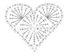 Ideas crochet heart motif pattern flower tutorial for 2019 Crochet Snowflake Pattern, Crochet Rug Patterns, Christmas Crochet Patterns, Crochet Snowflakes, Crochet Art, Crochet Gifts, Crochet Motif, Crochet Doilies, Crochet Flowers