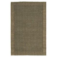 Sisal and seagrass rug.  Product: RugConstruction Material: Sisal and seagrassColor: Charcoal and greenFeatures:  Power-loomedMade in India Note: Please be aware that actual colors may vary from those shown on your screen. Accent rugs may also not show the entire pattern that the corresponding area rugs have.Cleaning and Care: Professional cleaning recommended