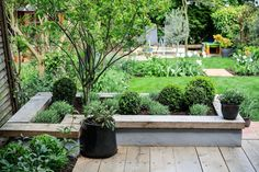 Contemporary garden Borders - How to make a contemporary raised bed Building A Raised Garden, Raised Garden Beds, Raised Patio, Raised Bed Planting, Plants For Raised Beds, Contemporary Garden Design, Landscape Design, Landscape Architecture, Contemporary Landscape