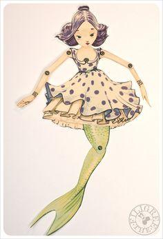 mermaid paper doll- also DIY