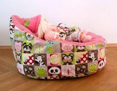 Baby- oder Kindersitzsack, abnehmbarer Bezug von margaretes handmadebox auf DaWanda.com