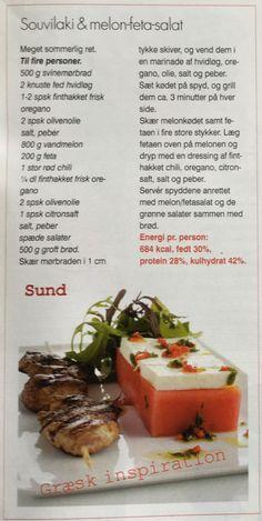 Souvilaki & melon-feta-salat