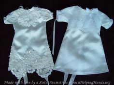 #AngelGowns♥ ~ Made with love by a Sister Seamstress @ nicuHelpingHands.org Angel Gowns, Nicu, Blessing, Baby Dress, Cribs, Angels, Hat, Wedding Dresses, Clothes