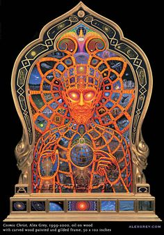 This is one of my most favorite pieces of art. I have seen it in person and the detail is incredible. Alex Grey is mind blowing and is the only artist that truly comes close, for me, at capturing the ineffable.