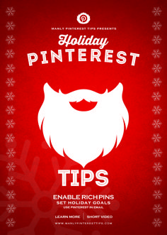 Great tips and tricks that will help you jumpstart your Pinterest marketing for the holidays | www.ManlyPinterestTips.com