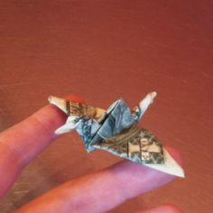 Money origami crane