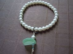 Lovely Pearl bracelet with Sea Glass Perfect от ShoreThingJewels