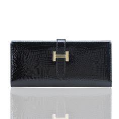 ブランドデザイナーナチュラルレザー女性財布ホット本革ワニの女性クラッチ財布長いカードホルダー財布女性バッグ