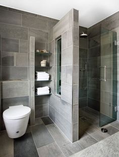 65 Stunning Contemporary Bathroom Design Ideas To Inspire Your Next Renovation -. 65 Stunning Contemporary Bathroom Design Ideas To Inspire Your Next Renovation - Gravetics Contemporary Bathroom Designs, Bathroom Layout, Modern Bathroom Design, Bathroom Interior Design, Modern Bathrooms, Contemporary Design, Bathroom Mirrors, Interior Modern, Bathroom Storage