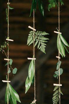 22 Fab Fern-Inspired Wedding Decor Ideas via Brit + Co. Bring the outdoors in with these foliage wedding decor ideas Theme Nature, Deco Nature, Nature Decor, Floral Wedding, Wedding Flowers, Trendy Wedding, Wedding Greenery, Wedding Floral Arrangements, Diy Wedding Deco