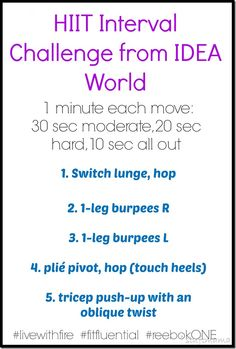 HIIT workout with some fun moves from @IDEA Fit . @Reebok @FitFluential #livewithfire #ideaworld