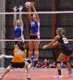 Read about volleyball blocking skills. How to place the block? When to jump? How to put the ball down?