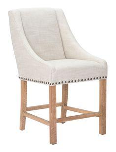 Zuo Modern Indio Counter Chair Beige