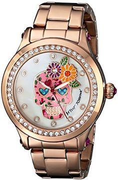 Betsey Johnson Women's BJ00366-05 Analog Display Quartz Rose Gold Watch