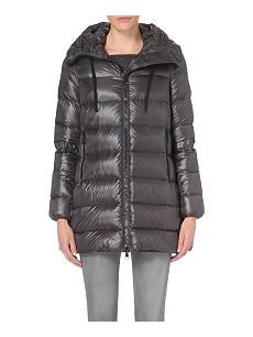 MONCLER Suyen A-line quilted coat Moncler, Winter Jackets, Coat, Shopping, Fashion, Winter Coats, Moda, Winter Vest Outfits, Fashion Styles