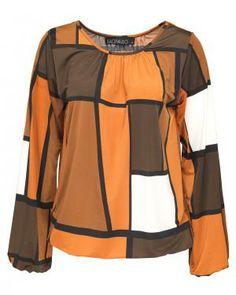 Sao Paulo blouse met grafische print | Sao Paulo kleding vind je bij Kennedy Fashion
