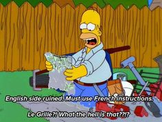 Could you please help Homer with the translation?