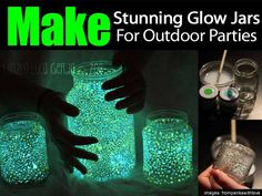 Glowing Jar Tutorial . . . so cool . . . now to find that paint.  Oh.  And 5-6 hours!