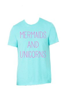 Mermaids and Unicorns Unisex Kids & Adult Tees