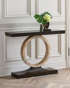 Shop Napree Circle Console Table from John-Richard Collection at Horchow, where you'll find new lower shipping on hundreds of home furnishings and gifts. Living Room Furniture, Home Furniture, Living Room Decor, Furniture Design, Entryway Decor, Wall Decor, Home And Deco, Metal Walls, Console Table