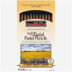 <div>Perfect for bold drawings or delicate sketches, these pastel chalk pencils are handcrafted ...