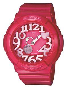 Amazon.co.jp: [カシオ]CASIO 腕時計 Baby-G ベビージー Neon Dial Series ネオンダイアルシリーズ BGA-130-4BJF レディース: 腕時計通販