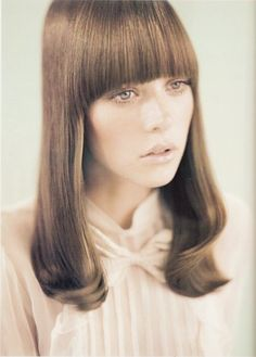 Very sixties, bangs