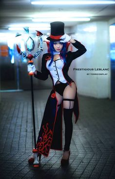 leblanc league of legends cosplay by terricosplay