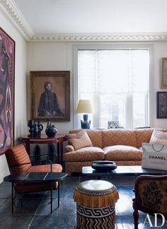 A London sitting room by Jacques Grange.