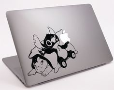 """Baby lilo and stitch- Laptop Notebook Macbook Decal 11"""" 13"""" 15"""" 17"""" (DM-0298) on Etsy, $8.99"""