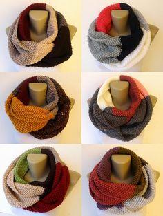 colorful infinity scarf / knit women scarf / men by senoAccessory