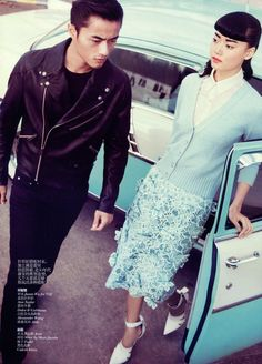 together4 Wang Xiao, Lily Zhi and Zhao Lei by Lincoln Pilcher for Vogue China March 2012