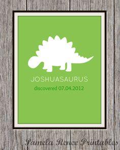 Personalized Printable Dinosaur Silhouette by PamelaReneePrints